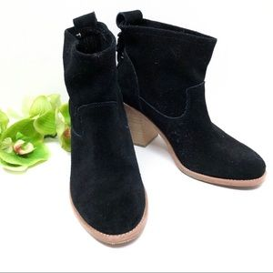 SOLUDOS Suede Ankle Booties Braided Detail Black